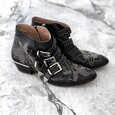 Chloe Susanna 30 Studded Ankle Boots 卯釘 短靴