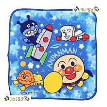 🎈現貨🎈日本 ANPANMAN 麵包超人 藍色手帕 方巾 小毛巾 洗臉毛巾 兒童毛巾 擦手巾 細菌人 吐司超人咖哩包超人