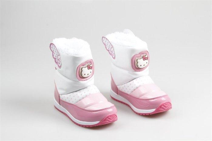 東大門平價鋪   出口韓國單女童冬季卡通 Kitty 貓外防水加絨保暖雪地靴