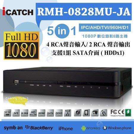 RMH-0428EU-KA 1080P 4路網路型監控主機 五合一 支援AHD.TVI.960H.D1.IPC 手機遠端
