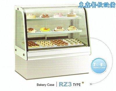 ~~東鑫餐飲設備~~RZ3 彎玻璃3層蛋糕展示櫃 / 蛋糕冷藏展示櫥 / 營業用蛋糕冷藏展示櫃