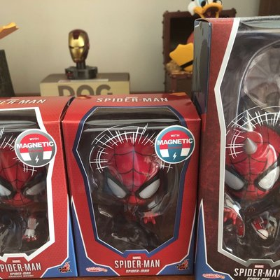 Hottoys PS4 spider man set of 3
