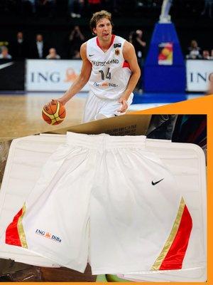 運動專用~諾維茨基 德國男籃國家隊2008北京奧運 Game issued 落場版GI短褲