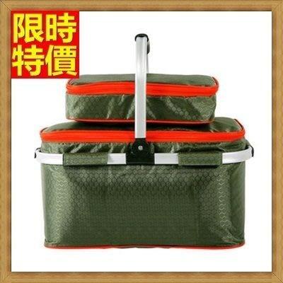 野餐包 2人餐具組 手提包-防滑底座柔軟提手可拆兩用摺疊野餐包 68ag36[獨家進口][米蘭精品]
