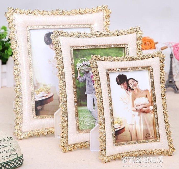 相框-相框 高檔經典歐式婚紗影樓小玫瑰花擺台相框創意結婚禮物6/7/8/10寸 旗艦店