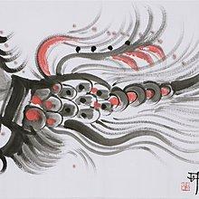 名人字畫~~ 韓美林 手繪國畫12生肖 雞 手繪 四尺 橫幅