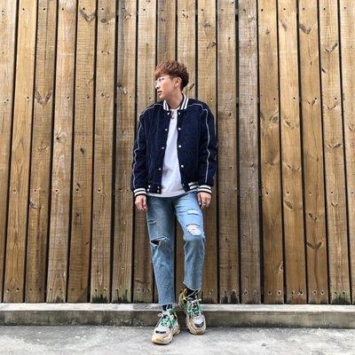 【inSAne】Korea Select / 斜紋布 / 棒球外套 / 單一尺寸 / 駝色 & 藍色