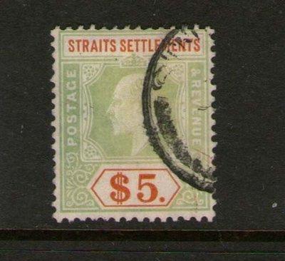 【雲品】馬來亞Malaya S. Setts. 1905 KEVII Sc 127 FU 庫號#66344