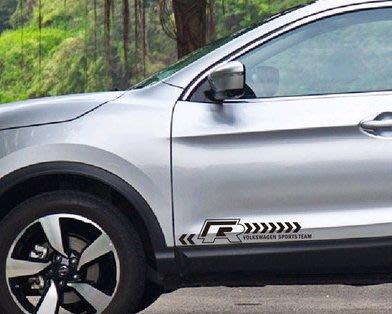 【小韻車材】福斯 golf R 貼紙 車門貼 汽車改裝 車貼
