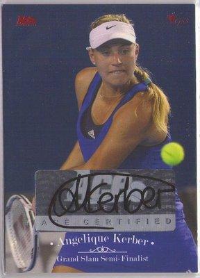 網球 2012 ACE Grand Slam 球后 Angelique Kerber 限量30張紅版少見簽名卡