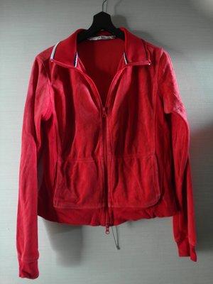 TOMMY HILFIGER 女子紅色法蘭絨外套