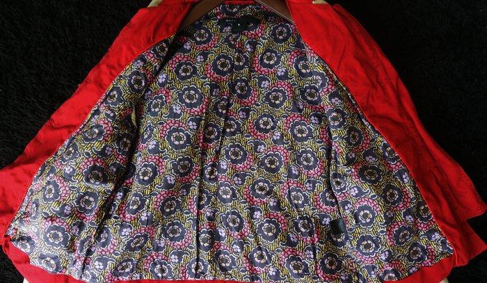 Marc Jacobs 紅色雙釦絲緞滿版花朵內裡外套