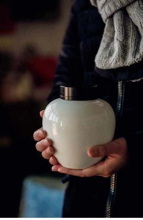 【自在坊】景德鎮陶瓷鋁蓋密封茶葉罐 玉泥白瓷大茶葉罐  外出旅行 居家自用【特價分享】 【全館滿599免運】
