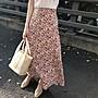 花海季鬆緊腰好穿脫半身裙 高腰顯瘦油畫浪漫碎花長裙 艾爾莎【TAE8317】