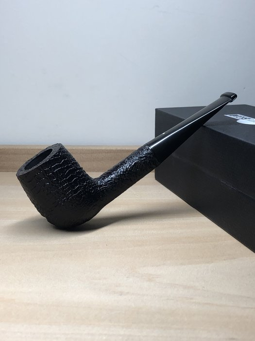 英國 Dunhill SHELL DPSRG4000/4001F 9mm濾芯 黑噴砂煙斗 0307110006