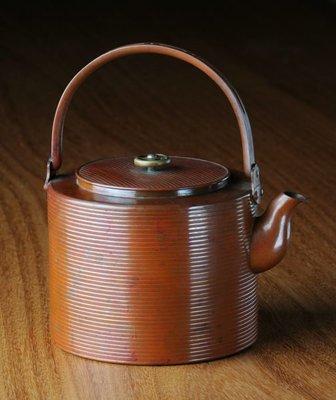 日本 純銅 古董 茶壺 藝術品 水壺 ...