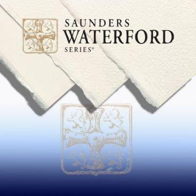 板橋酷酷姐美術 英國Saunders山度士水彩紙!waterford系列!粗紋荒目!190g!56*76cm!下標前請先