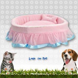 【推薦+】點點蕾絲花邊絨毛寵物睡床C148-1056寵物窩.寵物床.狗睡墊.貓睡墊.寵物睡墊.狗床
