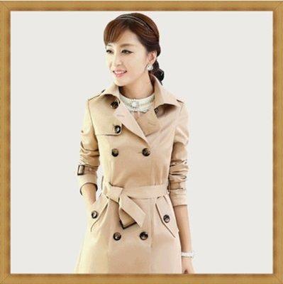 風衣外套 女大衣-秋冬純色修身長版女外套3色5z91[獨家進口][米蘭精品]