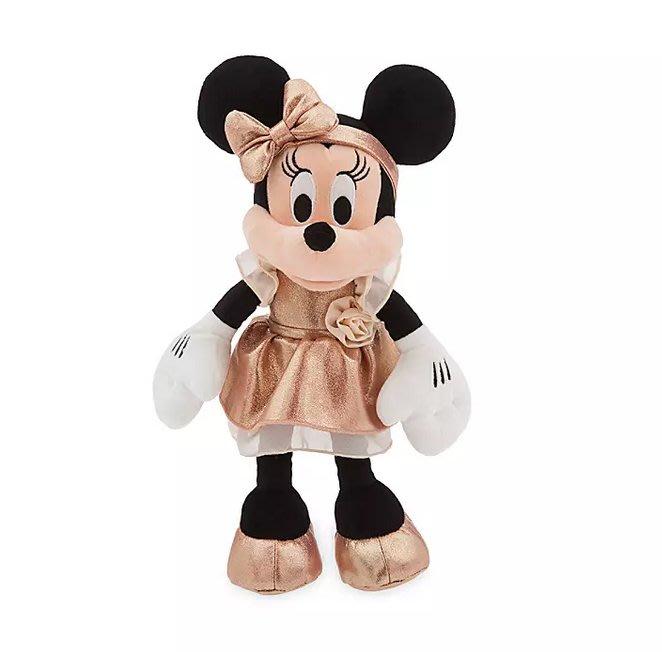 【可美童裝】現貨~美國迪士尼 disney store《正版限量玫瑰金米妮玩偶Minnie Mouse 12吋》