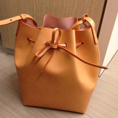 Mansur Gavriel 水桶包 cammello bucket bag 九成五新 名牌包 專櫃包