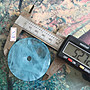 (古藝老歷史)天然巴西海藍寶海水藍寶平安扣七彩暈光效果如圖照實體拍照現貨供應出貨