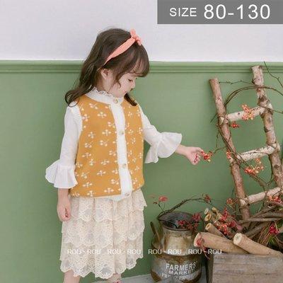 韓版女童針織背心。ROUROU童裝。春...