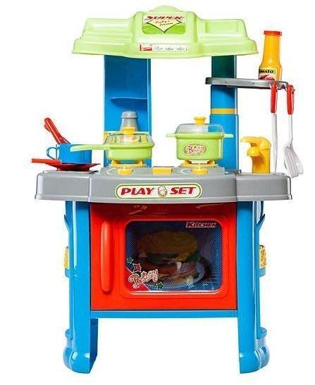 多功能廚房廚具組合(藍色) 辦家家酒玩具辦家家酒玩具◎童心玩具1館◎