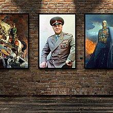 二戰名人裝飾畫早教蘇聯將領朱可夫斯大林照片收藏海報訂做畫(不含框)