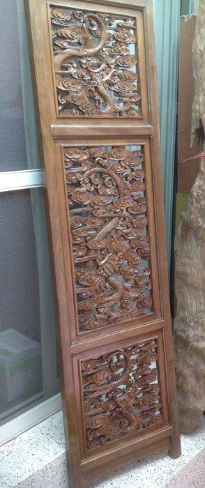 【黑狗兄】老窗花門雕花門,木雕龍,木門,木窗,隔扇,屏風一件----H-08