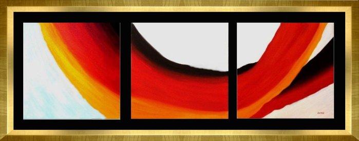 {藝術之都}手繪創作油畫~代代相傳~ 立體框60X180CM已完成作品含框可直接懸掛(實品拍攝)