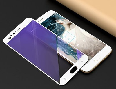 OPPO R9s R9s+ R11 plus R11S 紫光抗藍光 全屏 滿版 手機保護貼 手機玻璃貼 鋼化膜