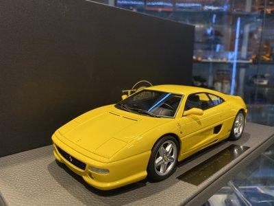 吉華科技@TopMarques TOP096B Ferrari F355 Berlinetta 黃色 1/18