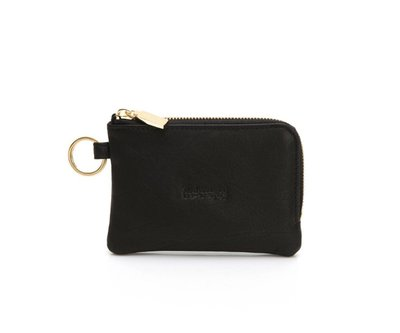 Rabeanco 經典小羊皮萬用鑰匙零錢包 專櫃正品 黑(新款)