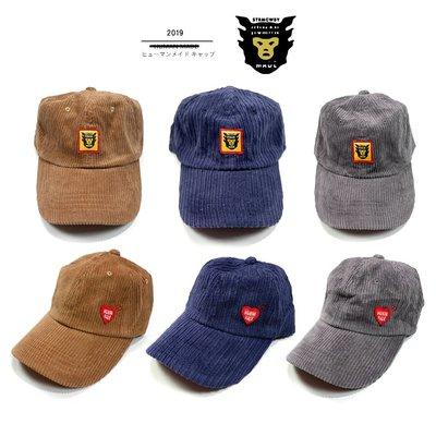 【TOP MAN】日本HUMAN MADE  NIGO 19SS秋冬條絨刺繡 帽子/棒球帽 199032051