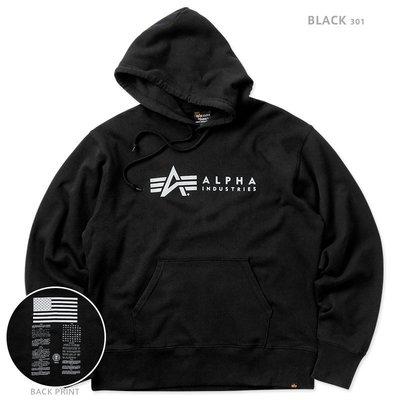 【Brand T】ALPHA INDUSTRIES BLOOD CHIT HOODIE 黑色*LOGO*血幅*連帽*帽T