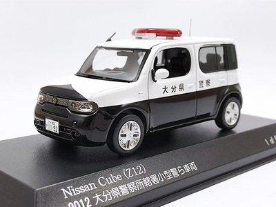 【秉田屋】現貨 Rai's Nissan 日產 Cube Z12 2012 大分縣 警車 警視廳 1/43