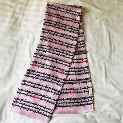 [熊熊之家3]保證全新正品GUCCI 粉紅  gucci 字樣 絲巾 領巾 圍巾