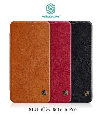*PHONE寶*NILLKIN MIUI 紅米 Note 6 Pro 秦系列皮套 側翻皮套 可插卡 超薄皮套 保護殼