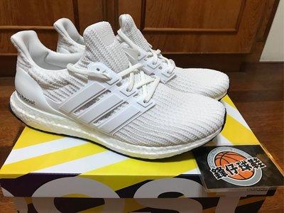 【 鋒仔球鞋 】ADIDAS ULTRA BOOST 4.0 全白 編織 馬牌鞋底 慢跑鞋 男鞋 BB6168