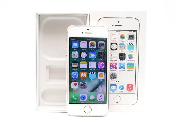 【高雄青蘋果3C】APPLE 5S 32G 32GB 金 4吋 IOS 10.3.3 二手蘋果手機 #36130