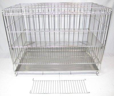 【優比寵物】2.5尺固定式加粗專業(304#級)不鏽鋼/不銹鋼白鐵 (底網可拿出清洗)正抽底盤貓籠/狗籠/生產籠/寵物籠