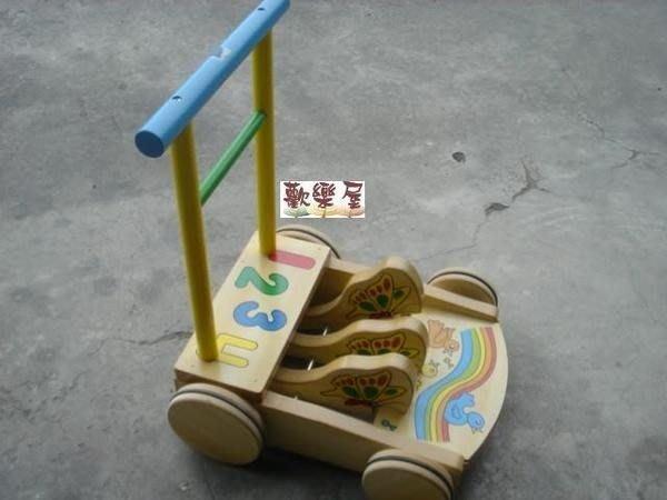 *歡樂屋*.....//baby原木製助步車/雞公車~精緻狗狗款//.....加重輪.防滑.防倒退
