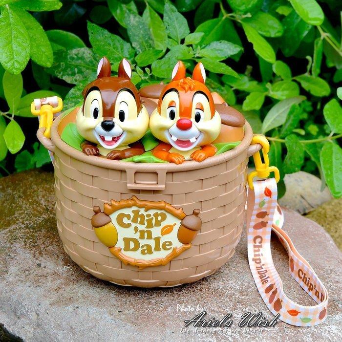 Ariel's Wish-日本東京迪士尼2018萬聖節限定-奇奇蒂蒂chip栗子花栗鼠爆米花桶玩具小物收納盒收納桶-現貨