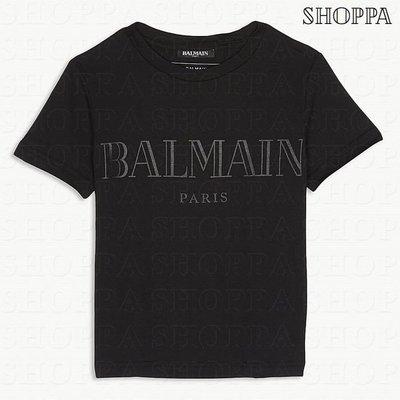 【SHOPPA】BALMAIN logo 棉質 短袖 上衣 T恤 黑色