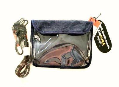 95折-全新Delfonics 隨身手機置物揹袋(全套日本製)藍色