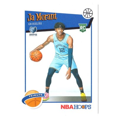 (RC) 灰熊一哥 Ja Morant 經典NBA Hoops Tribute Rookie系列新人RC Base卡 2019-20