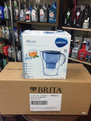 ~BRITA 德國~Marella、XL、3.5L、濾水壺 藍色、附濾芯4顆,4盒裝 箱~
