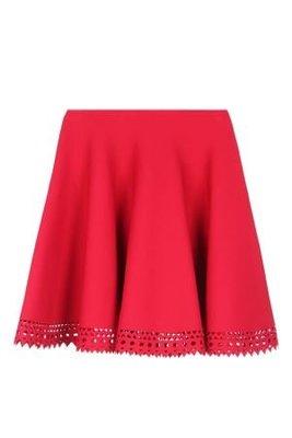 ☆代購幫日本代購代標☆2016ss ALAIA short flared skirt with lasercut hem