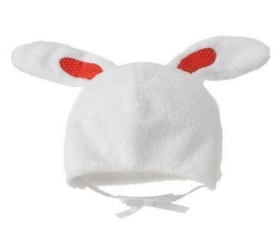 GYMBOREE 小白兔超柔軟毛帽 短絨毛【M1】